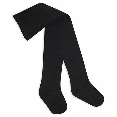 Baby Girls Tights High Quality in Plain Colours Soft Cotton 0-24 months Black