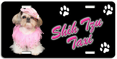 Shih Tzu 5 Taxi Line License Plate (( LOW CLEARANCE PRICE ))