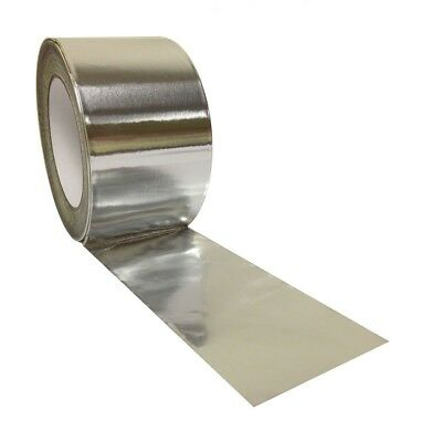 "Aluminium Foil Tape Rolls2"" 48mm X 45m Heat Insulation Duct Self Adhesive Silver"
