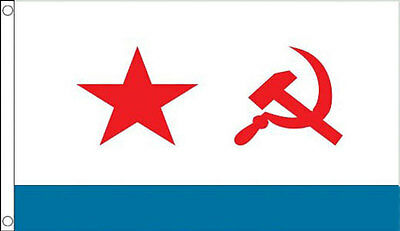 5' x 3'  USSR Marine Flag Russian Soviet Union Russia Hammer Star Sickle Banner