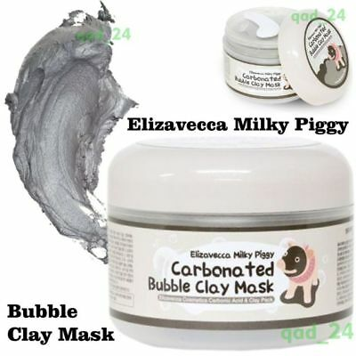 ELIZAVECCA Green Piggy Collagen Jella GEL / Bubble Clay MASK 100 g - UK SELLER