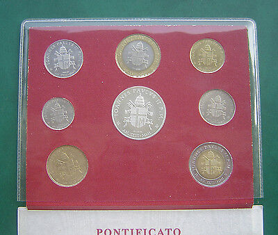 Vatican City 2001 10 Lire - 1000 Lire 8 Coins Mint Set