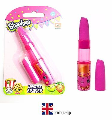 SHOPKINS LIPSTICK ERASER School Stationary Rubber Erasers Kids Birthday Gift UK