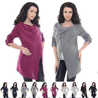 Purpless Maternity 2 in 1 Pregnancy and Nursing Sweater Cardigan Coat B9005