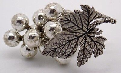 Vintage Sterling Silver 925 Bunch of Grapes Miniature - Stamped - Made in Italy