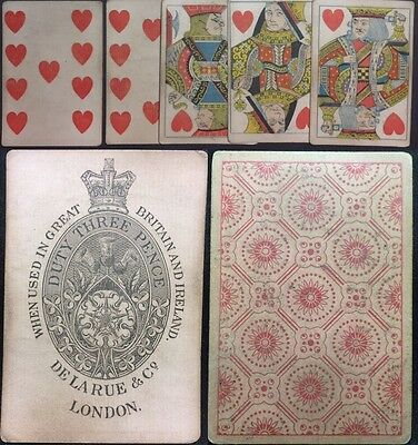 19th Century Squared Antique Playing Cards Gamblers English Saloon Historic Deck