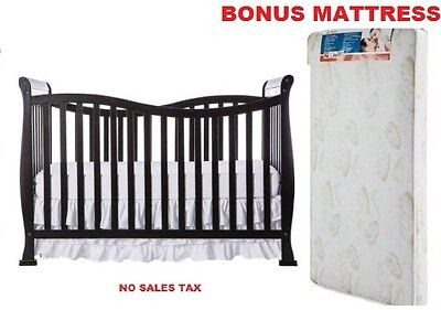 Convertible Crib with BONUS Mattress Baby Toddler Daybed Full Nursery Furniture