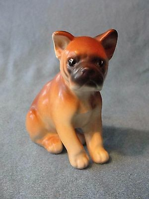 Vintage Bone China Boxer Pup Figurine Made In Japan