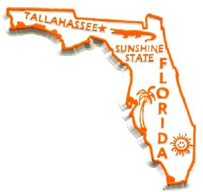 Florida The Sunshine State Fridge Magnet