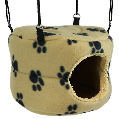 Soft Beige Igloo Pet Bed Cave Toy Hammock Guinea Pig/small Dwarf Rabbit Cage/run