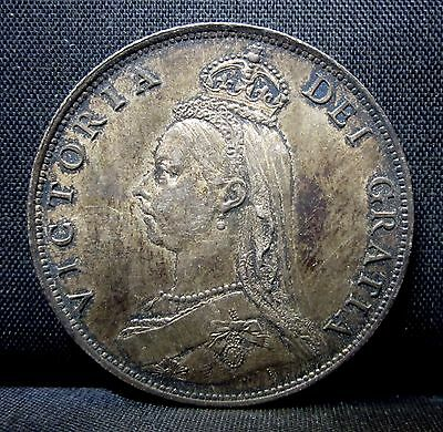 1887 Great Britain Florin ✪ Au Almost Uncirculated ✪ Jubilee Silver ◢Trusted◣