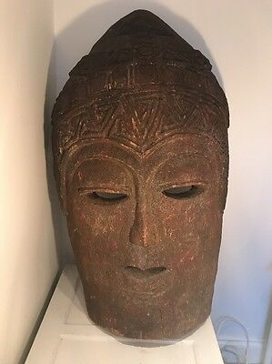 Large Cambodian Antique Buddah Head Circa 1750-1780