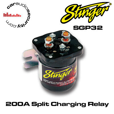 Stinger SGP32 High Current 200 Amp Split Charging Relay Battery Isolater