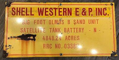 Vintage Shell Western E&P Inc lease sign