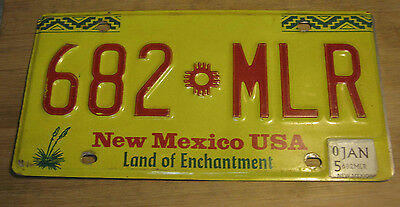 2005 New Mexico License Plate Expired 682 Mlr
