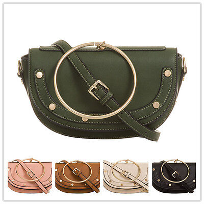 New Small Crossbody Suede Faux Leather Backpack Handbag Wedding Bag Purse T895