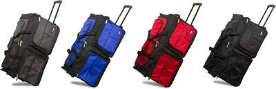 "28"" Polyester Rolling Wheeled Duffel Bag Travel Duffel Bag on Wheel - Suitcase"