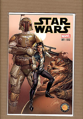 Star Wars #1  J Scott Campbell Variant The Cargo Hold Exclusive Nm+/mt