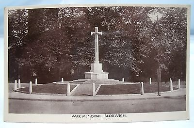 WAR MEMORIAL BLOXWICH post-WW1 c.1920s VINTAGE REAL PHOTO POSTCARD WALSALL*