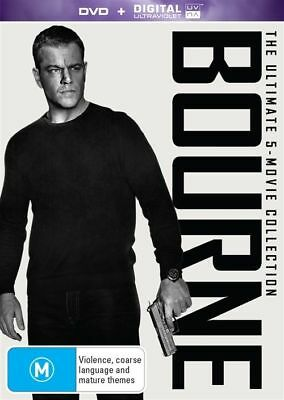 Bourne The Ultimate 5 Movie Collection BRAND NEW SEALED R4 DVD