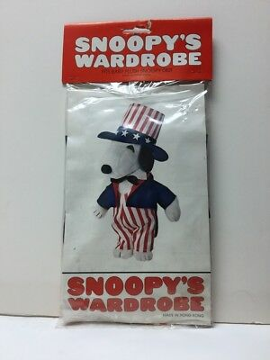 1980 Snoopy's Wardrobe Uncle Sam Outfit For Baby Plush SNOOPY 0821