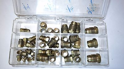 Break Away Nut Compression Tubing Lot of 44 Assorted Sizes