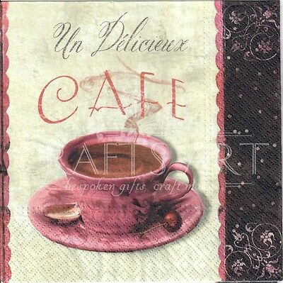 50/'s style 534 It/'s always time for tea 4 Single paper decoupage napkins