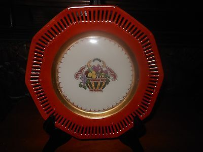 Antique Limoges Hand Painted And Signed Porcelain Plate