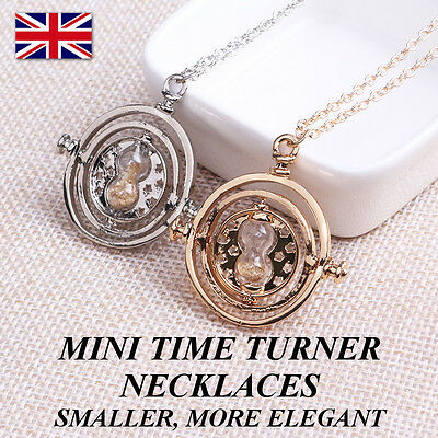Mini Time Turner Necklace Hermione Granger Rotating Hourglass Harry Potter