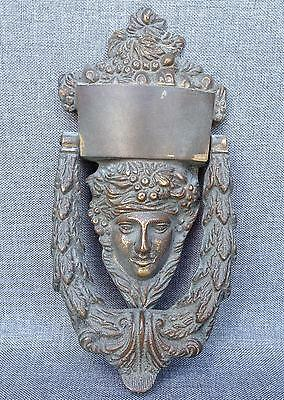 Big antique english victorian door knocker mid-1900's made of bronze