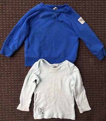 Bonds Baby Jumper Sweater And Long Sleeve Top Blue Size 0 6-12 Months