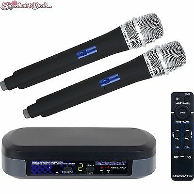 VocoPro TabletOke-II Digital Karaoke Mixer w/ Wireless Mics + Bluetooth Receiver