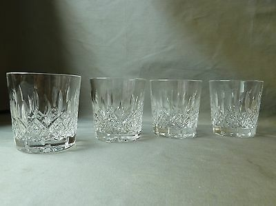 4 Crystal Whisky Glasses/Tumblers, Not Signed Webb? h3""