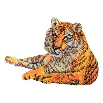 Tiger Laying Down Applique Patch (Iron on)