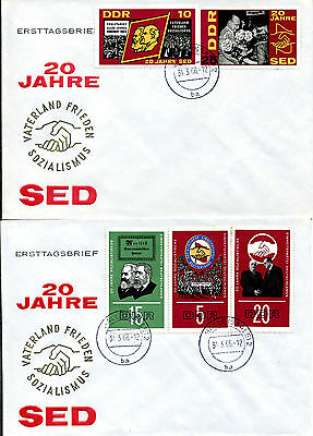 DDR 1173/7 - 20 Jahre SED - FDC