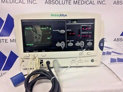 Welch Allyn IPX2 Patient Monitor 6200 series with ECG,SPO2,NIBP:BIOMED Certified