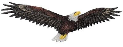 Soaring Bald Eagle Applique Patch (Iron on)