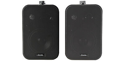 AVLINK Stereo Background Speakers 30W Black Pair NEW