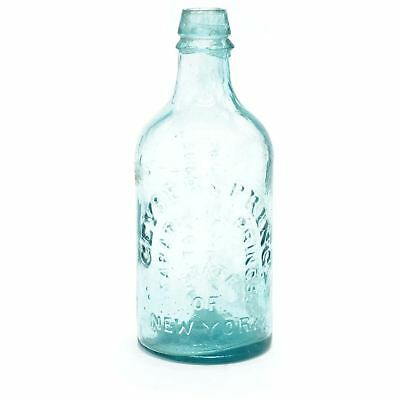 """Antique """"The Saratoga"""" Spouting Springs Mineral Water Bottle"""