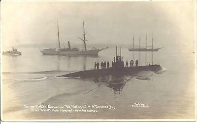 Postcard U S Military New Electric Submarine
