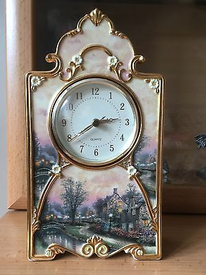 Heirloom fine porcelain clock keeps good time