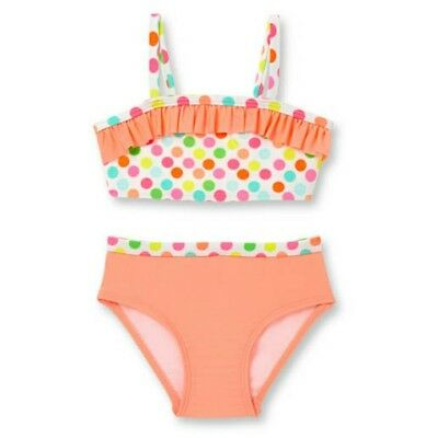 OP Baby Girls Ruffle Trim 2 Piece Swimsuit, Peach Smoothie NWT