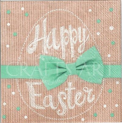 Easter  eggs 4single paper decoupage napkins E10 Easter blue and gold