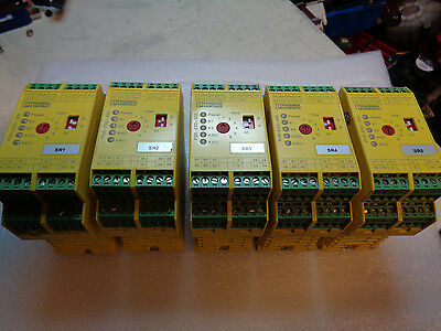 Phoenix Contact PSR-SCP-24DC/ESD/5X1/1X2/300 Safety Relay Lot of 5