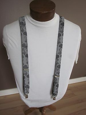Pair of Men's Mickey Mouse Suspenders - Adjustable
