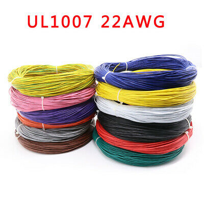 22AWG 17/0.12TS Stranded Wire 300V 80C° Cable White/Grey/Black/Pink/Blue/Purple