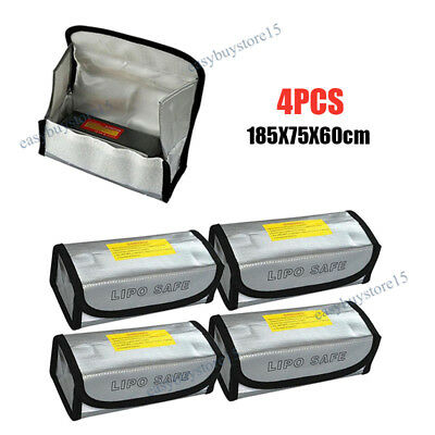 4pcs LiPo Lithium RC Safe Battery Guard Sack Charging Safe Bag Explosion Proof