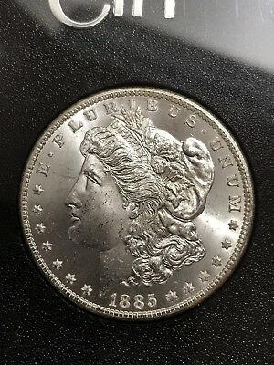 1885-CC MORGAN SILVER Dollar GSA/CAC NGC MS65+VAM-4 Double Dash Hot-50 RARE!