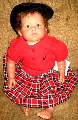 "Berenguer Baby- REBORN 22"" Life size and weighted AUBURN w/BLUEISH EYES STUNNING"