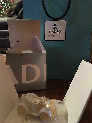 LLADRO Little Roadster Christmas Ornament 01018368 With Box And Bag Spain Car